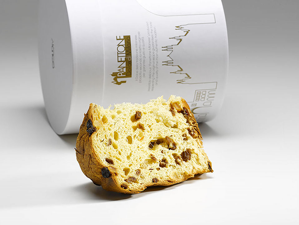 Goldfy - Packaging Cilindrico - Panettone di Natale
